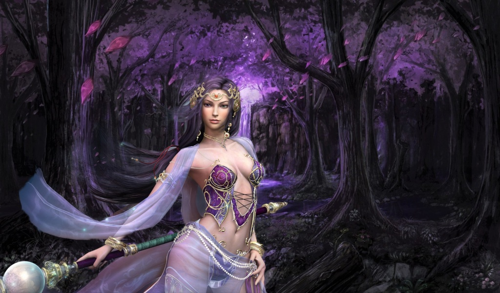 Picture elven woman in forest